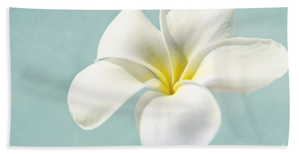 Plumeria Bath Sheet featuring the photograph My Hope Carries Me . . . by Sharon Mau