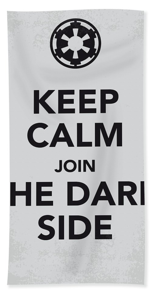 Star Hand Towel featuring the digital art My Keep Calm Star Wars - Galactic Empire-poster by Chungkong Art