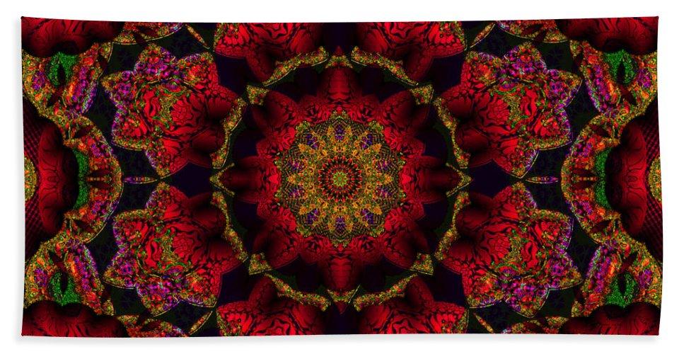 Red Bath Sheet featuring the digital art My Kind Of Girl by Robert Orinski