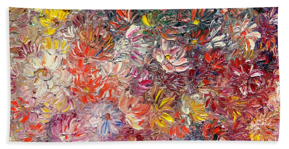 Abstract Hand Towel featuring the painting My Pretty Pallet by Karin Dawn Kelshall- Best