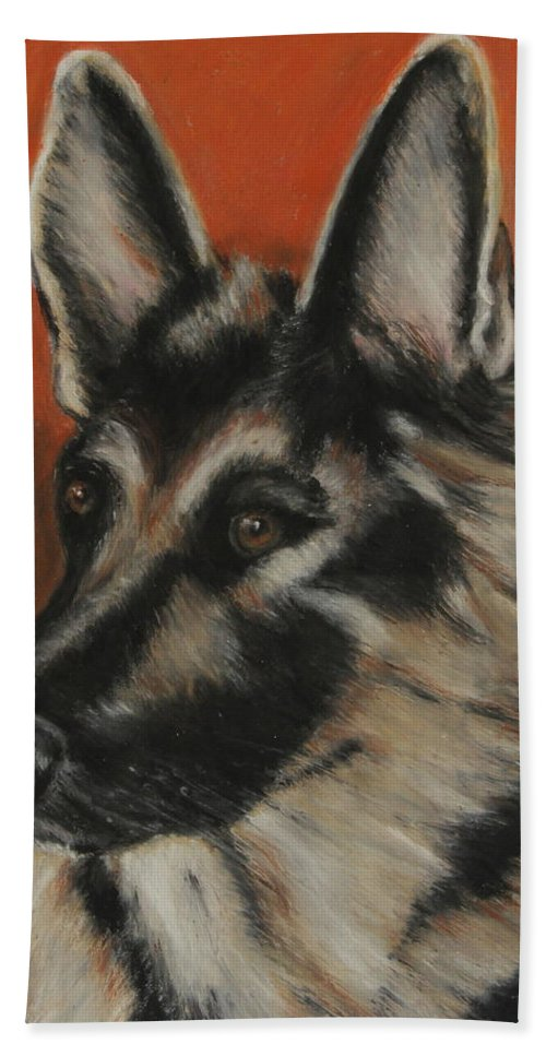 Animal Bath Sheet featuring the painting My Sadie by Jeanne Fischer