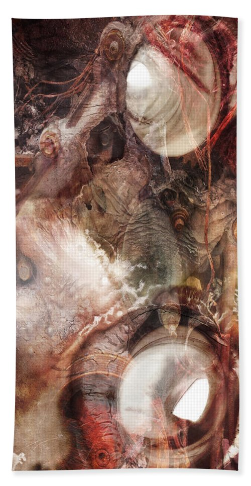 Abstract Bath Sheet featuring the photograph My Senseless Meat by The Artist Project