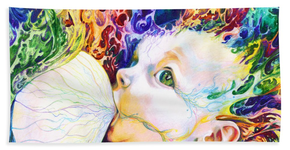 Dreams Hand Towel featuring the mixed media My Soul by Kd Neeley