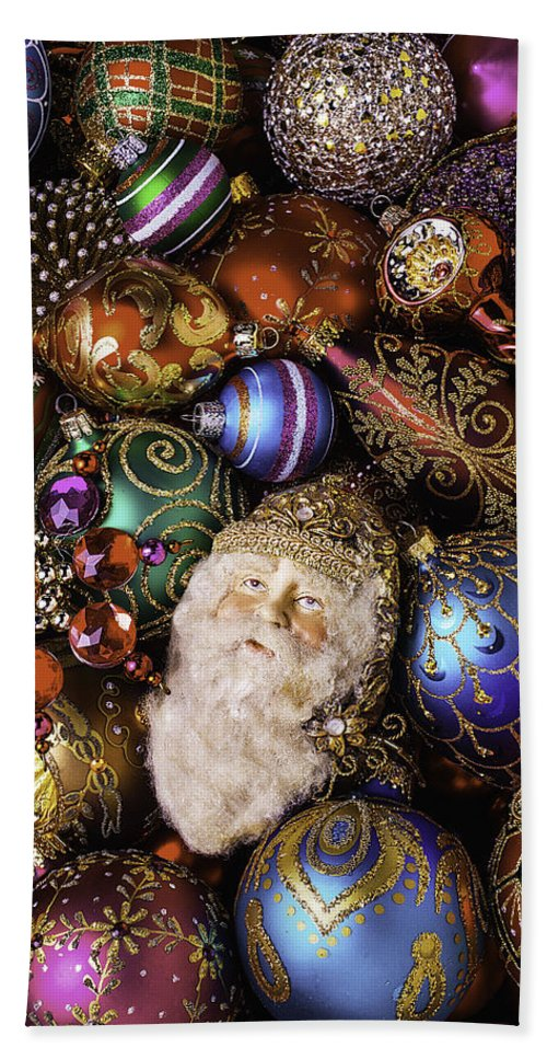 Christmas Hand Towel featuring the photograph My Special Christmas Ornaments by Garry Gay