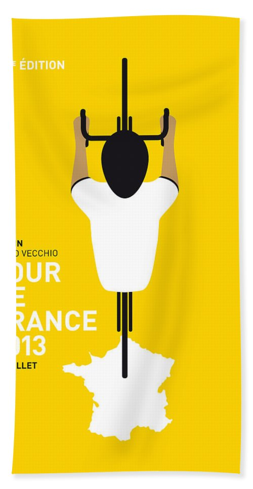 Cycling Hand Towel featuring the digital art My Tour De France Minimal Poster by Chungkong Art