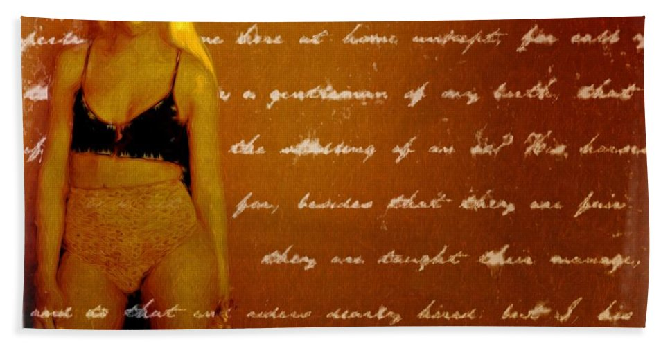 Woman Hand Towel featuring the photograph My Words by Alice Gipson