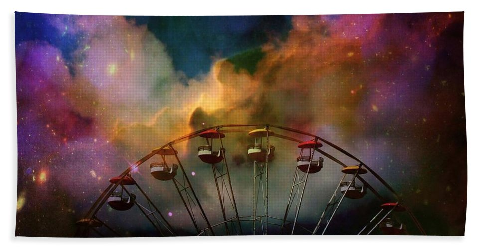 Carnival Hand Towel featuring the photograph Take A Mystery Ride In The Multicolored Clouds by Gothicrow Images