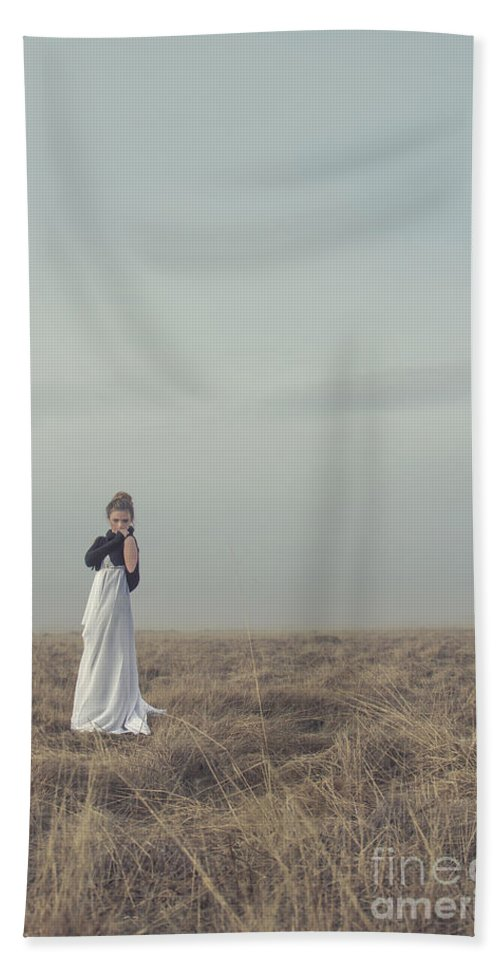 Alone Hand Towel featuring the photograph Mystic And Divine by Evelina Kremsdorf