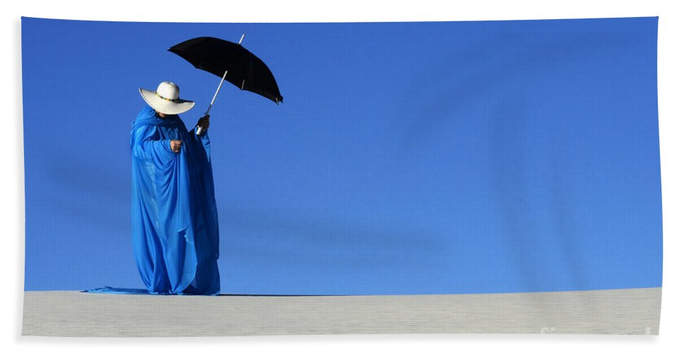 Dream Hand Towel featuring the photograph Mystic Blue 6 by Bob Christopher