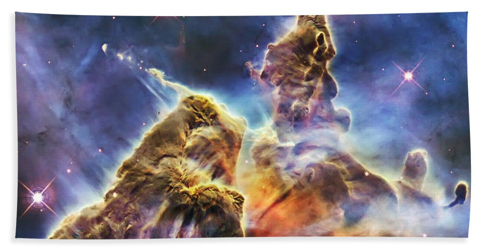 3scape Hand Towel featuring the photograph Mystic Mountain by Adam Romanowicz