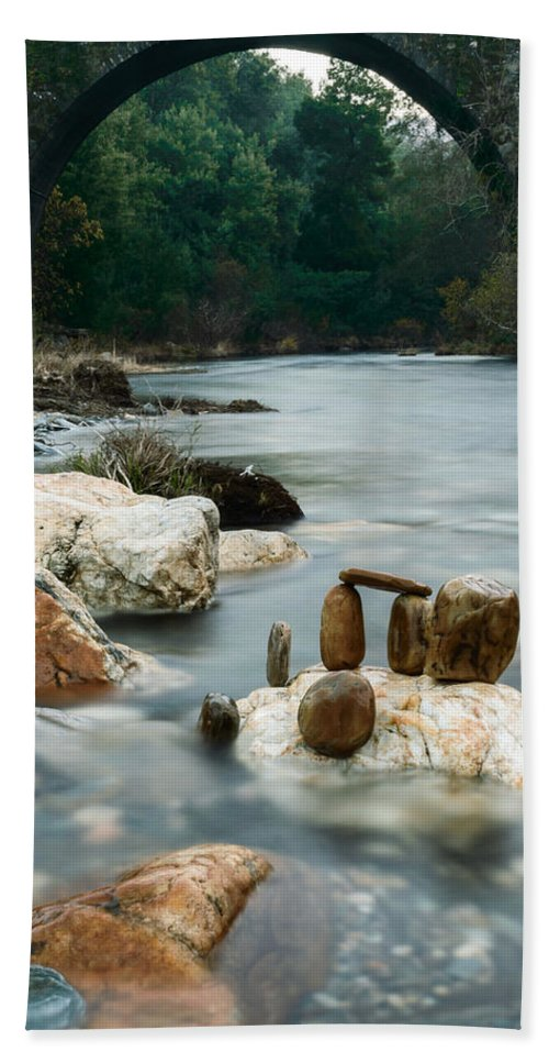 River Hand Towel featuring the photograph Mystic River I by Marco Oliveira