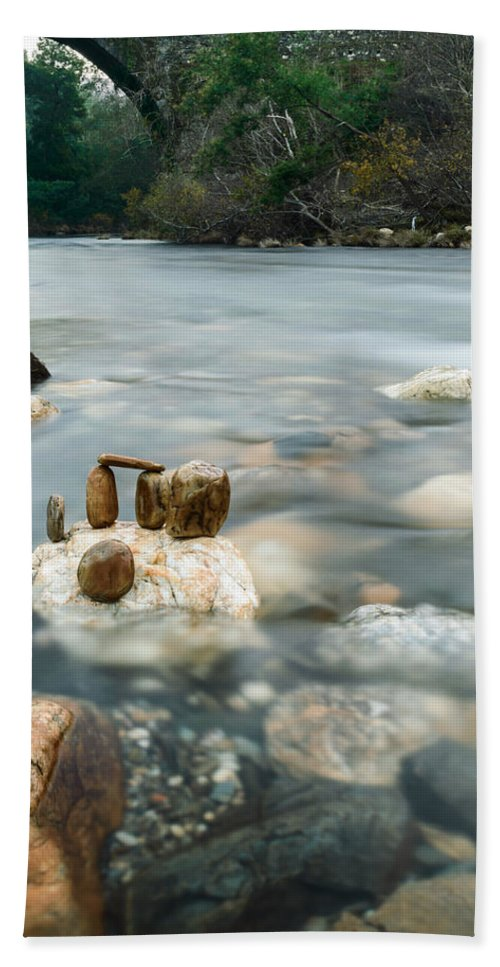 River Hand Towel featuring the photograph Mystic River II by Marco Oliveira