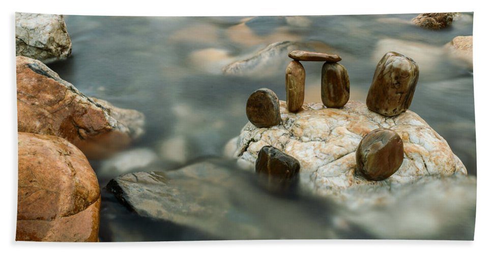 River Hand Towel featuring the photograph Mystic River Iv by Marco Oliveira
