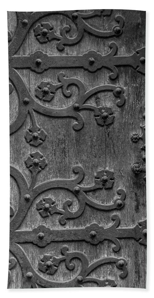 Mystical Hand Towel featuring the photograph Mystical Door by Edgar Laureano