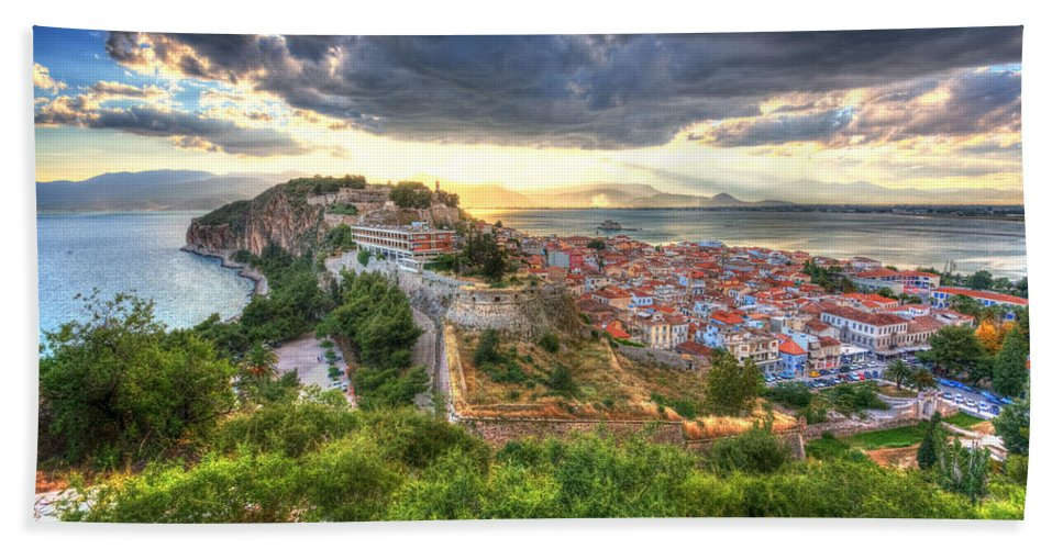 Mediterranean Hand Towel featuring the photograph Nafplion by Milan Gonda