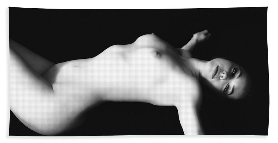 Glamour Bath Sheet featuring the photograph Naked Woman by Ramon Martinez