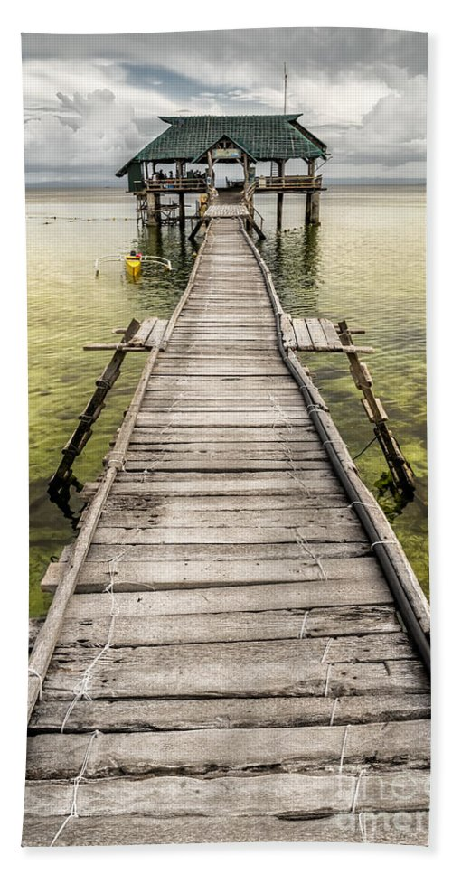 Nalusuan Hand Towel featuring the photograph Nalusuan Island Pier by Adrian Evans