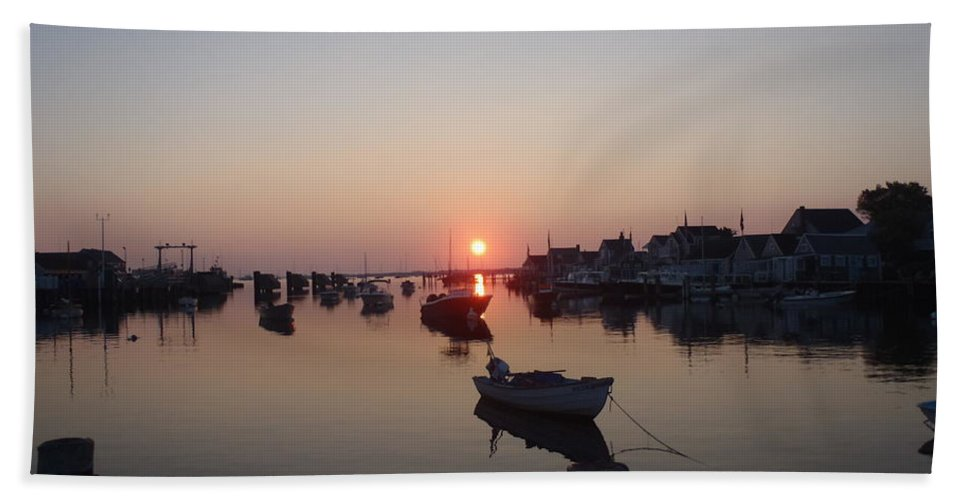Nantucket Hand Towel featuring the photograph Nantucket Sunrise by Robert Nickologianis