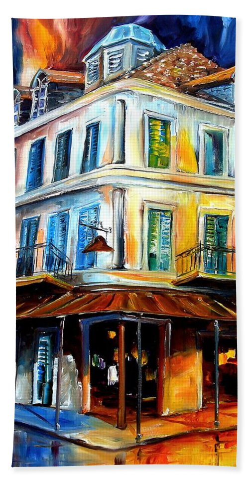 New Orleans Hand Towel featuring the painting Napoleon House by Diane Millsap