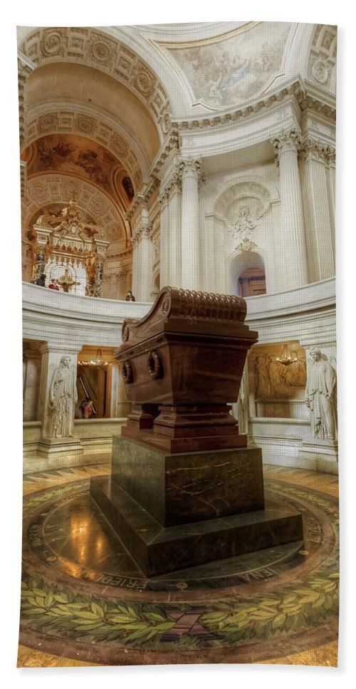 Napoleon Bath Sheet featuring the photograph Napoleon's Tomb - A Different View by Hany J