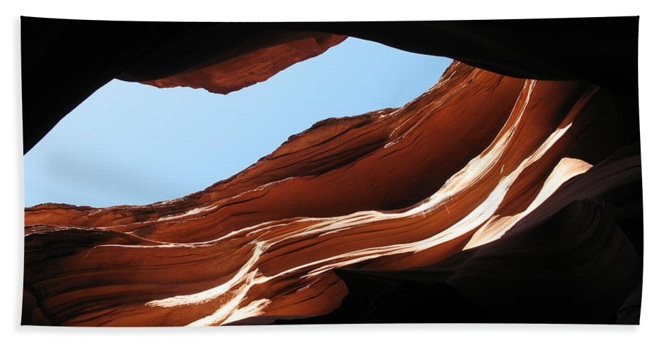 Canyon Bath Sheet featuring the photograph Narrow Canyon Vi by Christiane Schulze Art And Photography