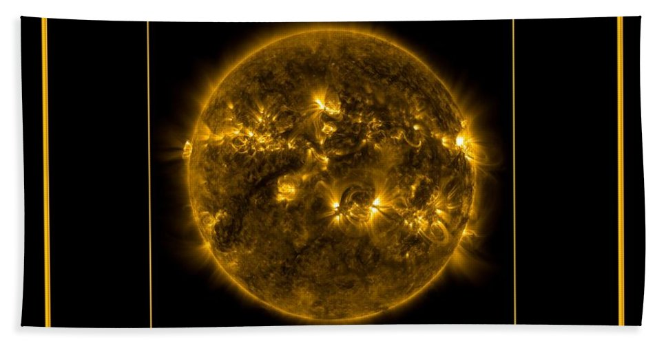 Nasa Hand Towel featuring the photograph Nasa The Suns Corona Sun And Moon Bless The Lord Praise And Exalt Him Above All Forever by Rose Santuci-Sofranko