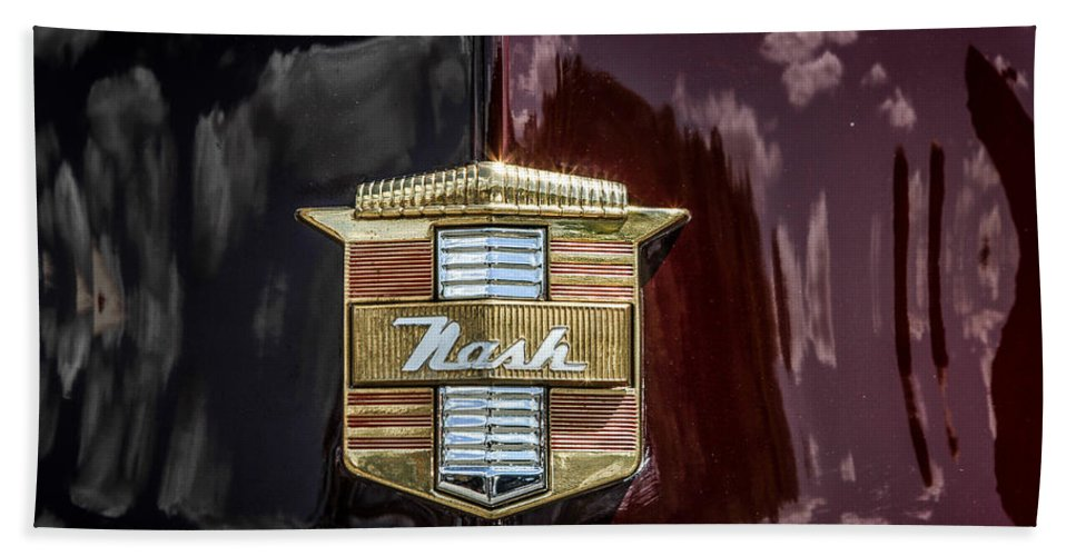 Classic Hand Towel featuring the photograph Nash Insignia by Eleanor Abramson