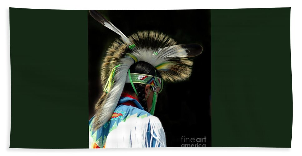 #native #american Bath Sheet featuring the photograph Native American Boy by Kathleen Struckle