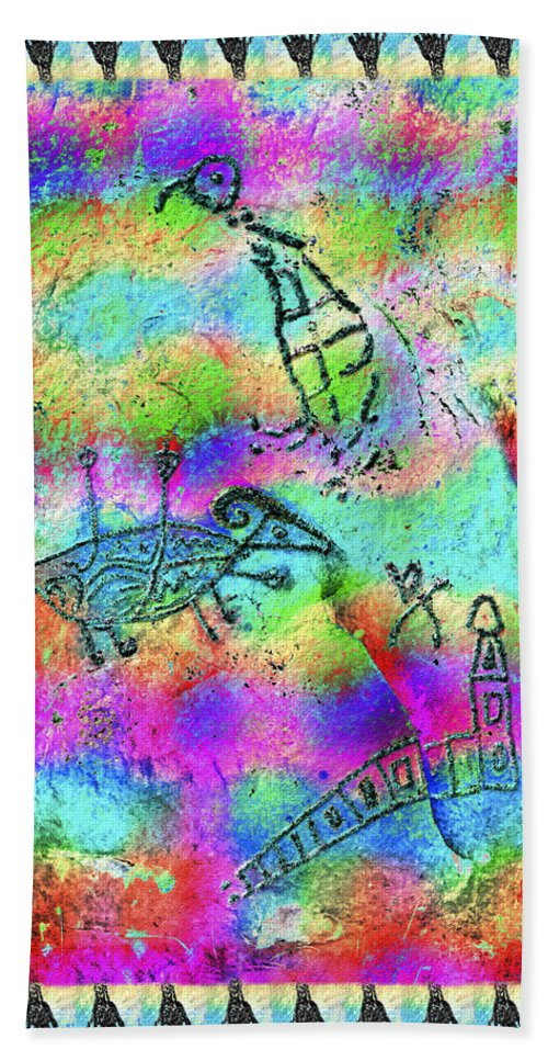 Petroglyph Hand Towel featuring the photograph Native Legends I by Kurt Van Wagner