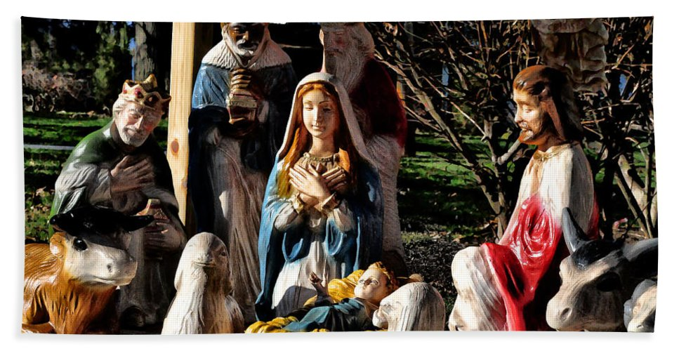 Nativity Hand Towel featuring the photograph Nativity by Bill Cannon