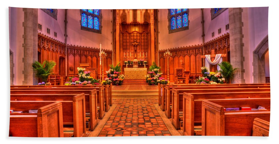 Mn Church Hand Towel featuring the photograph Nativity Of Our Lord Church by Amanda Stadther