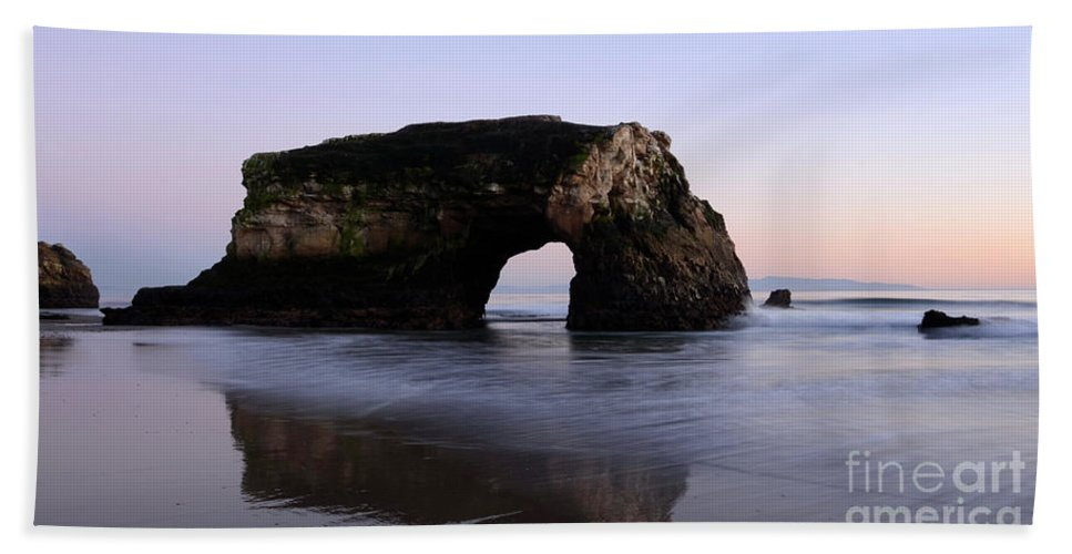 California Hand Towel featuring the photograph Natural Bridges State Park California by Bob Christopher