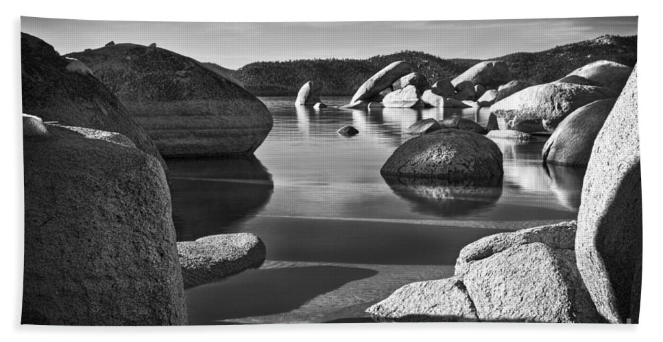 Boulders Bath Sheet featuring the photograph Natural Path by Dianne Phelps