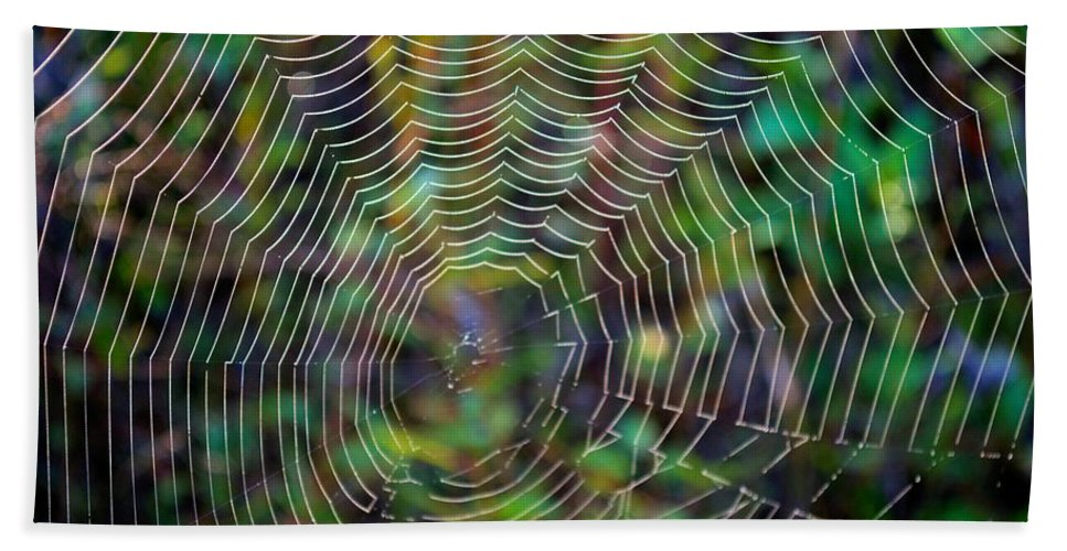 Abstract Bath Sheet featuring the photograph Natural Stained Glass by Bonfire Photography