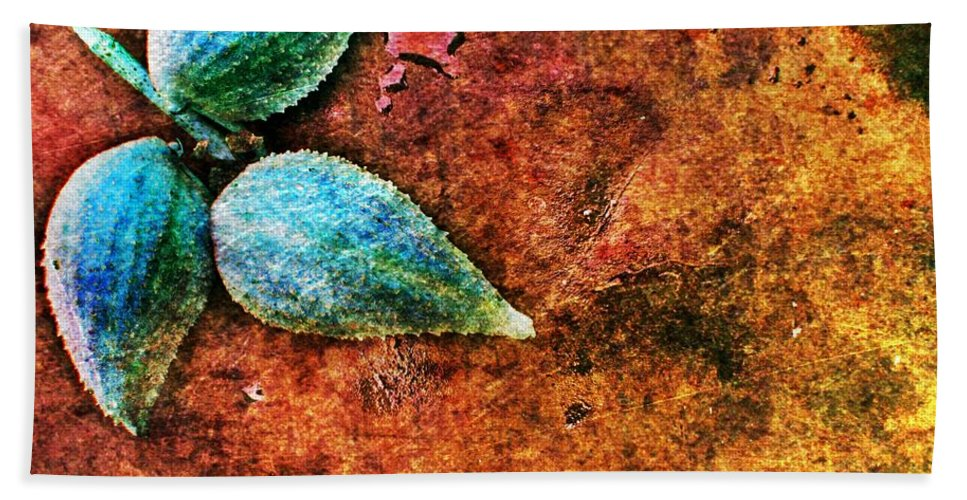 Nature Bath Sheet featuring the digital art Nature Abstract 17 by Maria Huntley