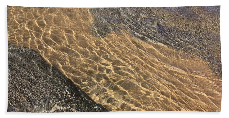 Lake Tahoe Bath Sheet featuring the photograph Nature Abstract - Clear Lake Tahoe Water by Carol Groenen