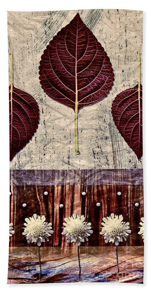 Leaves Bath Sheet featuring the digital art Nature Canvas - 01m4 by Aimelle