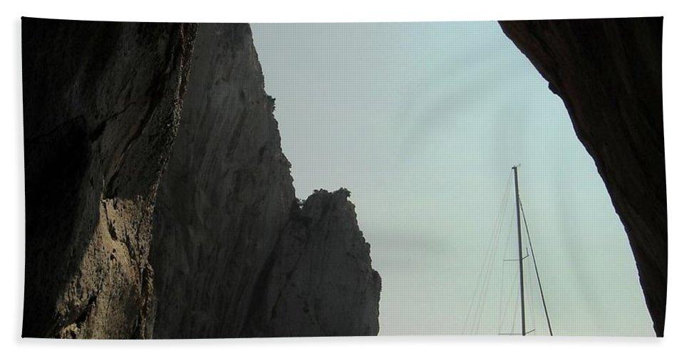 Amalfi Coast Hand Towel featuring the photograph Rock Canopy by Lisa Kilby