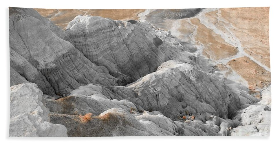Photo Hand Towel featuring the digital art Navaho Badlands by Tim Richards