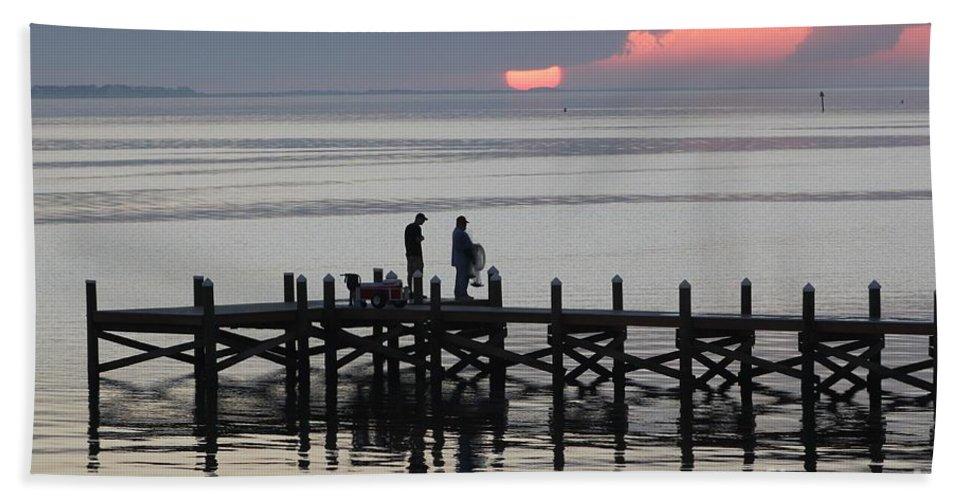 Navarre Beach Pier Bath Sheet featuring the photograph Navarre Beach Sunset Pier 25 by Michelle Powell