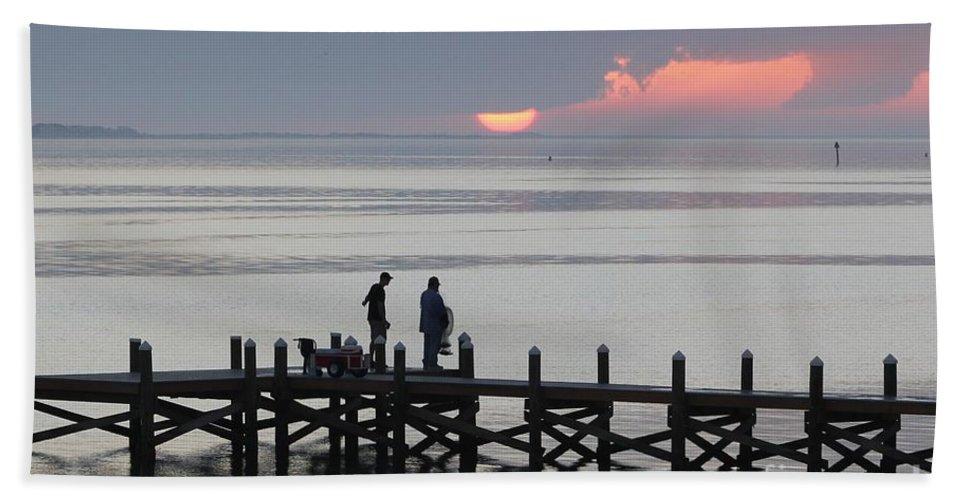 Navarre Beach Pier Bath Sheet featuring the photograph Navarre Beach Sunset Pier 27 by Michelle Powell