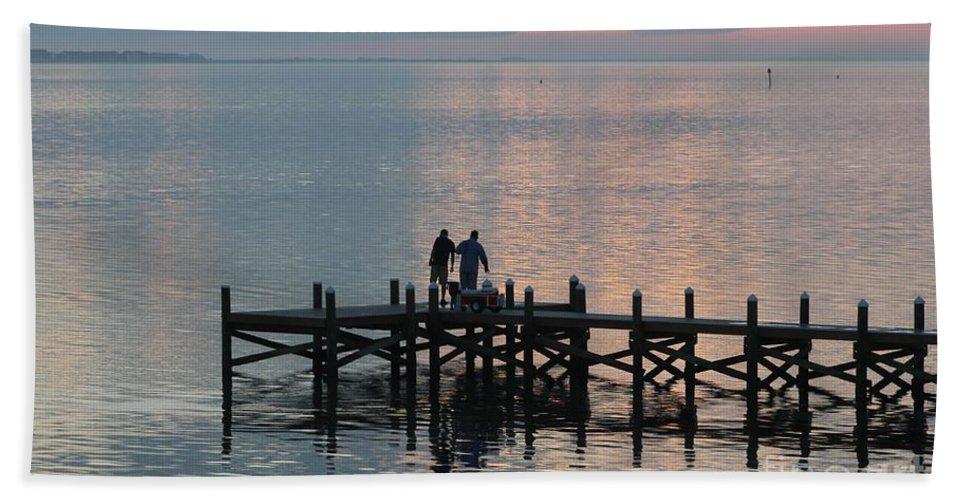 Navarre Beach Pier Bath Sheet featuring the photograph Navarre Beach Sunset Pier 37 by Michelle Powell