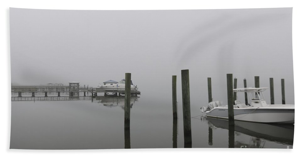 Fog Hand Towel featuring the photograph Navigating In The Fog by Dale Powell