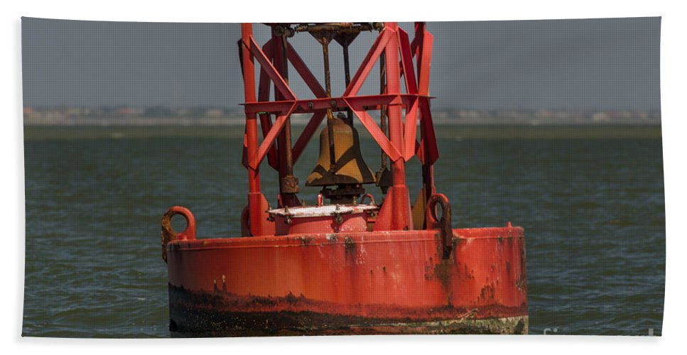 Buoy Bath Sheet featuring the photograph Navigational Bell by Dale Powell