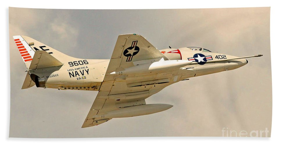 Tico Warbird Airshow Hand Towel featuring the photograph Navy In The House by Davids Digits