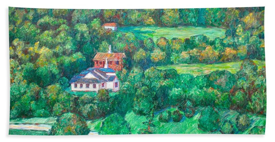 Mountains Paintings Hand Towel featuring the painting Near Tuggles Gap by Kendall Kessler
