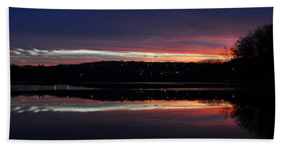 Sunset Hand Towel featuring the photograph Neon Sunset by Luke Moore