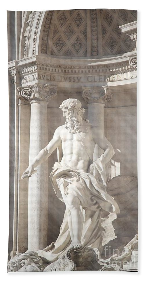 Neptune Statue Hand Towel featuring the photograph Neptune Statue by Stefano Senise