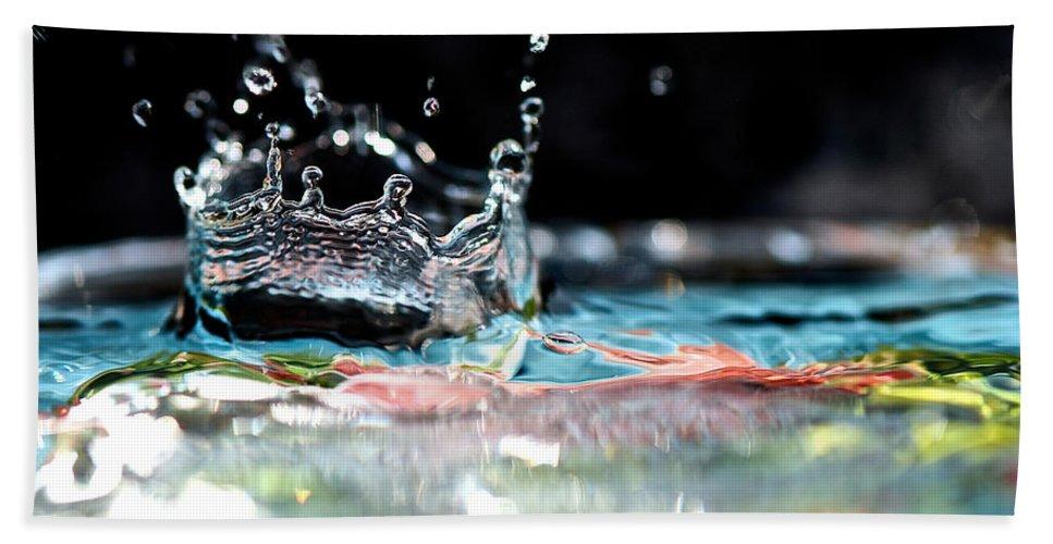 Bokeh Bath Sheet featuring the photograph Neptune's Crown by Lisa Knechtel