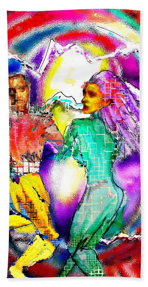 Neutron Hand Towel featuring the digital art Neutron Dance by Seth Weaver